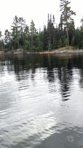 Fishing on Quetico Lake