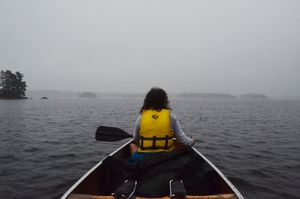 Foggy Paddle on Burntside