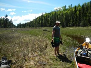 2015 Brule North Loop Portage End at North Grassy Lake Paddle