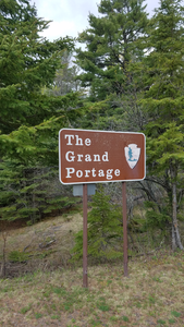 Crossing Hwy 61 on the Grand Portage