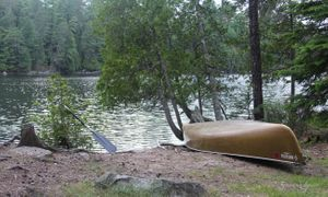 Canoe at Oyster site