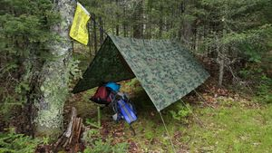 Solo camp on Partridge
