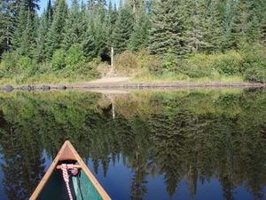 2nd portage west of Quadga Lake - paddle through - east end