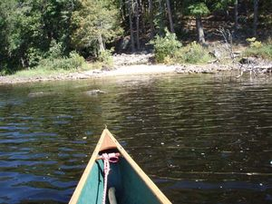 S Kawish south 15r portage - south end - paddle through