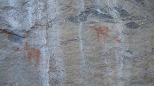 Pictographs on Crooked Lake