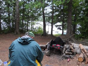 Adams Lake Island Campsite