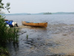 Resting after Splash to Newfound Portage