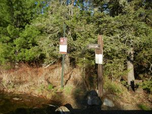 Sign Marking Burntside-Crab Portage