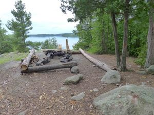 camp kitchen area, basswood island
