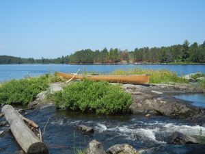 Island in Otter Lake Rapids