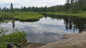 Koma Lake Portage on north end