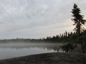 Frost Lake misty morning