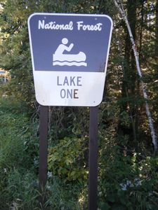 Lake One Sign