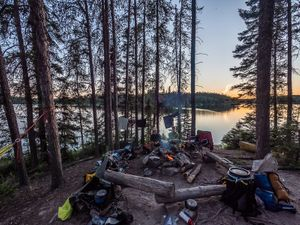 Deluxe Camp on Onnie Lake