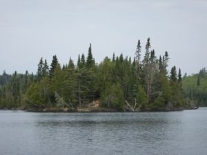 Little Trout Lake island camp