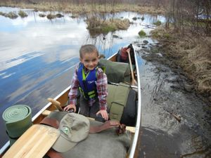 Weston in the Canoe