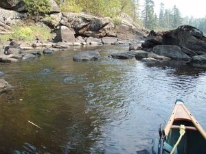 Isabella R - 2nd port downstream from Rice Lake - paddling through