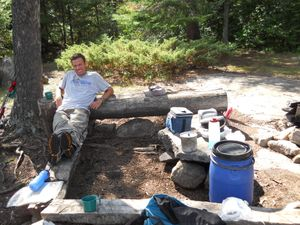 Clearwater Lake camp