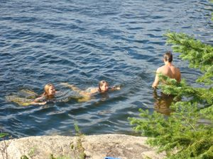 Swimming on Mosquito Point
