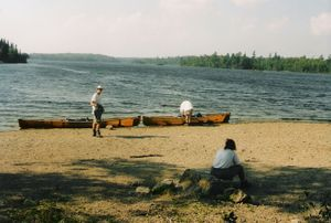 Beach at Prairie Portage, September 2004