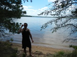 Big moose lake beach