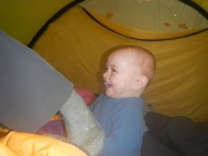 Fun in the tent