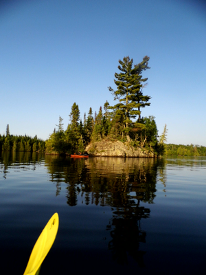 Morning Paddle through Mid Brule