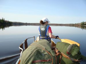 Paddling on Nina Moose