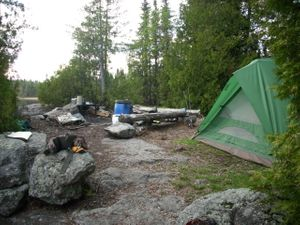 First night's Camp on Frost