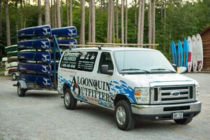 Algonquin Outfitters Campground delivery van