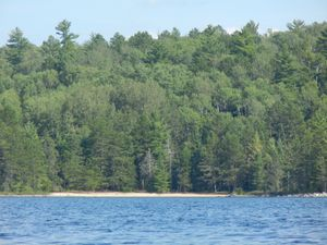 Sand Beach on Beaverhouse Lake