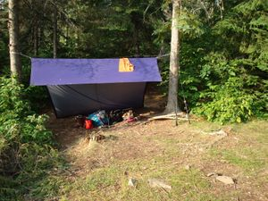 Tarp Set-up at Jordan Lake Campsite