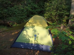 Tent Pad at Jordan Lake Site