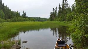 Portage into Bat Lake