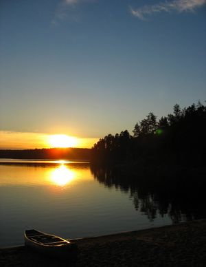 Loon Lake Sunset