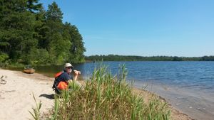 Lunch at Fall Lake campsite 1761