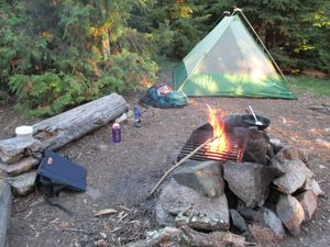 Fire grate & tent pad