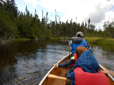 paddling South Brule River
