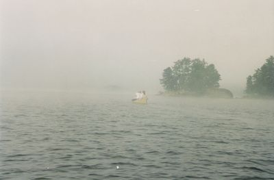 Into the fog, Russell Lake