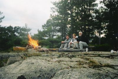 Crooked Lake Campsite, Alex, Niki and myself