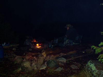 Crooked Lake campfire
