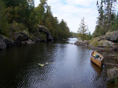 Entering Little Sag from Mora Portage
