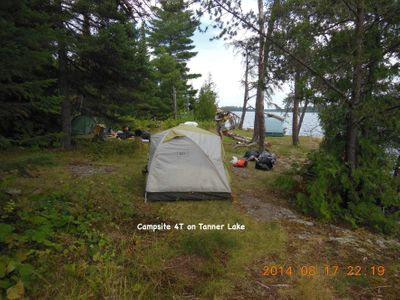 Campsite 4T on Tanner Lake