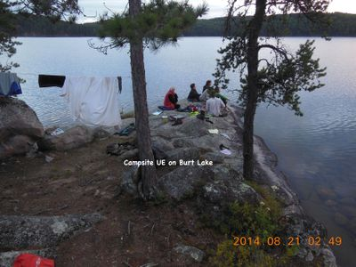 Campsite UE on Burt Lake