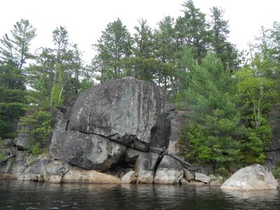 Hook Lake rock escarpment
