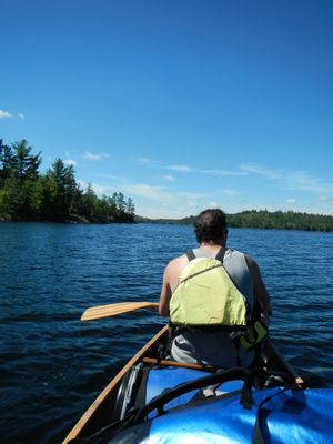 Paddling Slim Lake