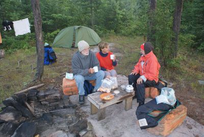 Breakfast, Camp near Bear Island, Threemile Lake