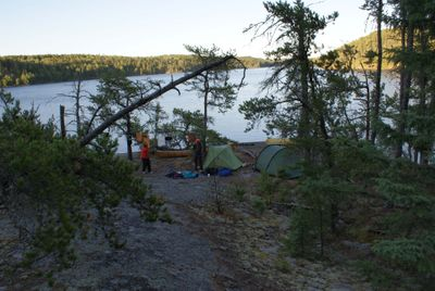 Campsite on south shore of Cirrus