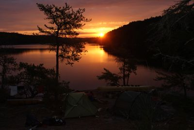 Sunrise from campsite on south shore of Cirrus