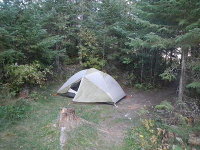 Our tent (Birch Lake)